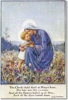 Her painting of the Christ Child, The Darling of the World Has Come, was purchased by Queen Mary