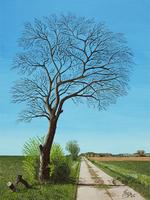 Titel: Baum in Sickte/Material: Boesner Malkarton/Technik: Acryl/Größe: 30 cm x 40 cm/Jahr: 2020